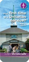 First time at a Unitarian Service Leaflet